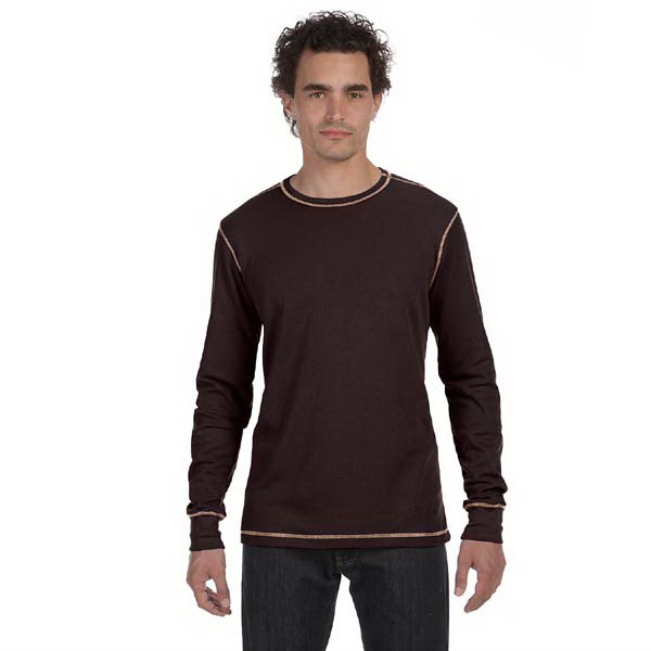Imprinted Bella & Canvas Men's Thermal Long Sleeve T-Shirt