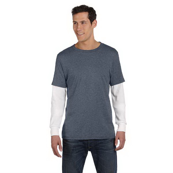 Imprinted Bella & Canvas Men's Long-Sleeve 2-in-1 T-Shirt