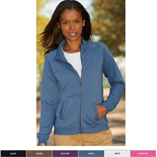 Custom Ladies' French Terry Raglan-Sleeve Cadet Jacket