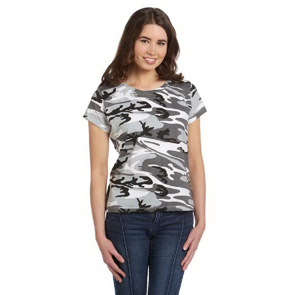 Promotional Ladies' fine jersey camouflage t-shirt