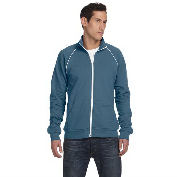 Printed Bella & Canvas Men's Piped Fleece Jacket