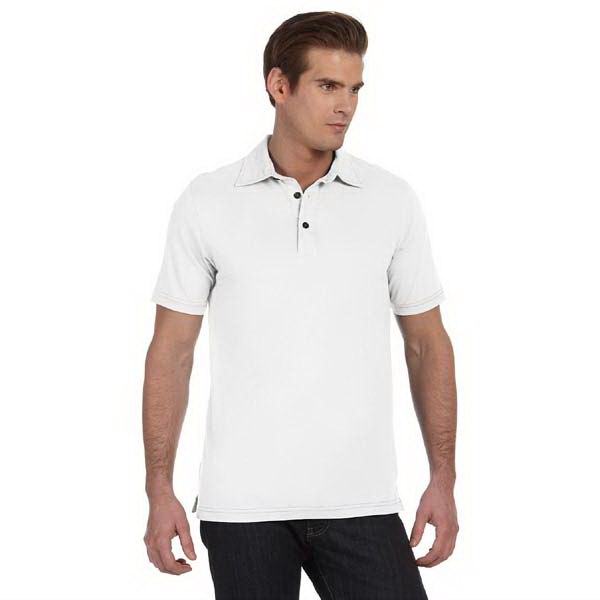 Personalized Bella & Canvas Men's Short Sleeve Three-Button Polo
