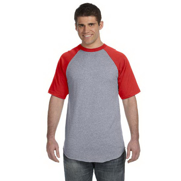 Personalized Augusta Sportswear 50/50 Short-Sleeve Raglan T-Shirt