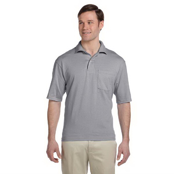 Promotional 5.6 oz. 50/50 Jersey Pocket Polo with SpotShield (TM)