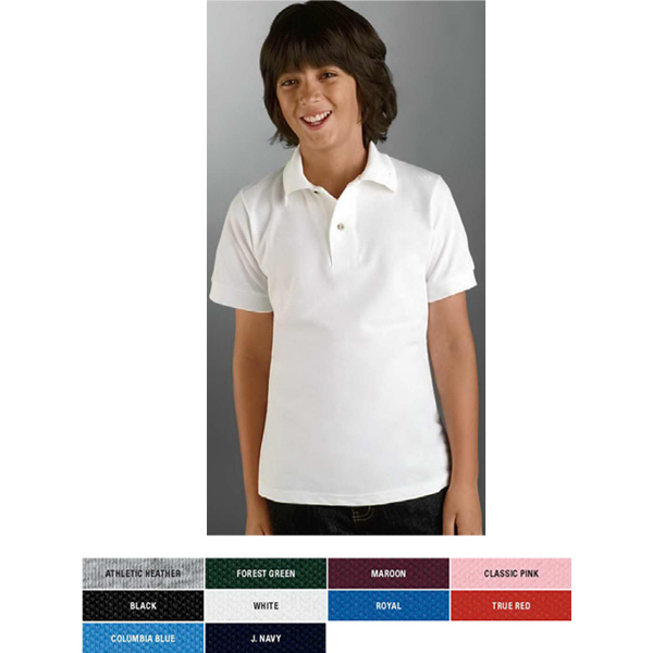 Personalized Youth 6.5 oz. Cotton Pique Polo