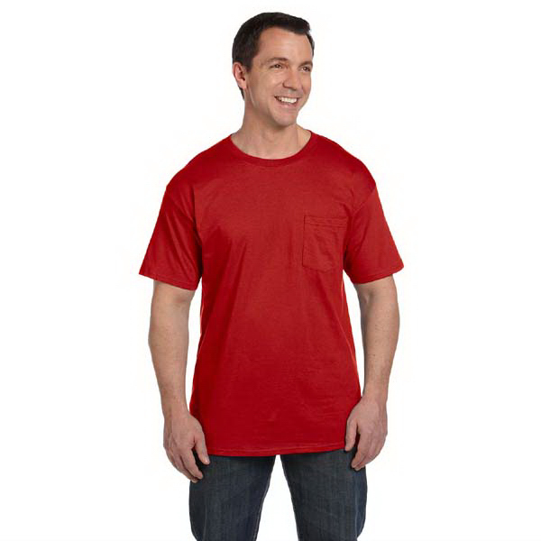 Printed Hanes 6.1 oz Beefy-T (R) with Pocket