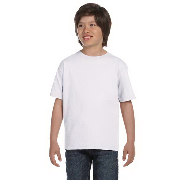 Printed Hanes Youth 5.2 oz ComfortSoft (R) Cotton T-Shirt