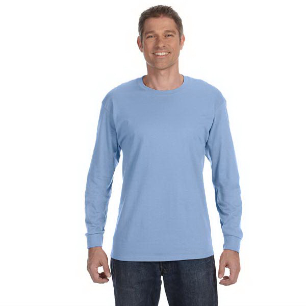 Printed Hanes 6.1 oz Tagless (R) ComfortSoft (R) Long-Sleeve T-Shirt