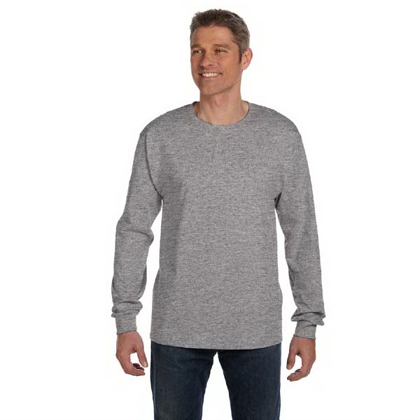 Custom 6.1 oz Tagless ComfortSoft (R) Long-Sleeve Pocket T-Shirt