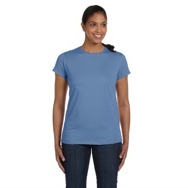 Imprinted Hanes Ladies' 5.2 oz ComfortSoft (R) Cotton T-Shirt