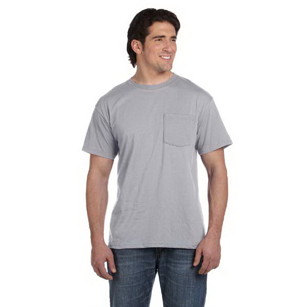 Imprinted Fruit of the Loom 5.6 oz, 50 / 50 Best (TM) Pocket T-Shirt