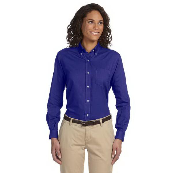Customized Ladies' Long Sleeve Wrinkle Resistant Oxford