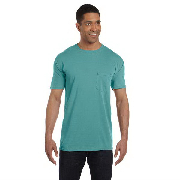 Customized Comfort Colors 6.1 oz Ringspun Garment-Dyed Pocket T-Shirt