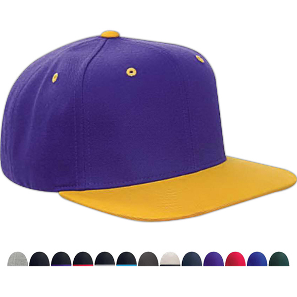 Personalized Yupoong 6-panel structured flat visor classic snapback