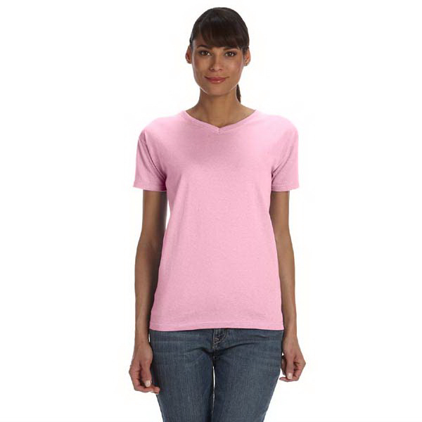 Printed Ladies' 5.4 oz. V-neck t-shirt