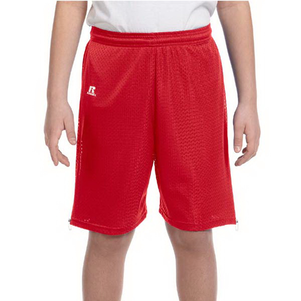 Imprinted Russell Athletic Youth Nylon Tricot Mesh Short