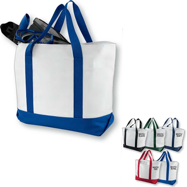 Custom Bay View Giant Zippered Boat Tote