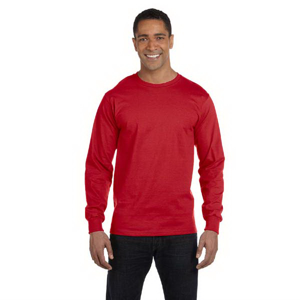 Personalized 5.4 oz. long-sleeve t-shirt with Tearaway (TM) label