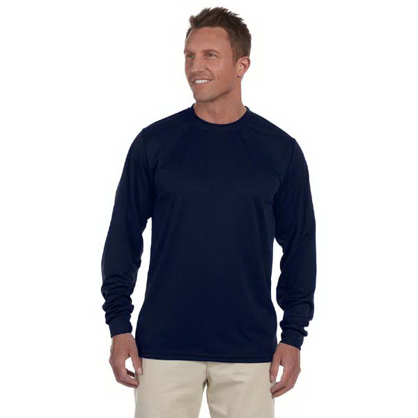 Promotional 100% Polyester Moisture Wicking Long Sleeve T-Shirt