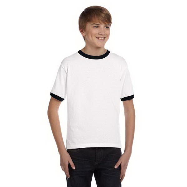 Printed Youth 5.4 oz ringer t-shirt