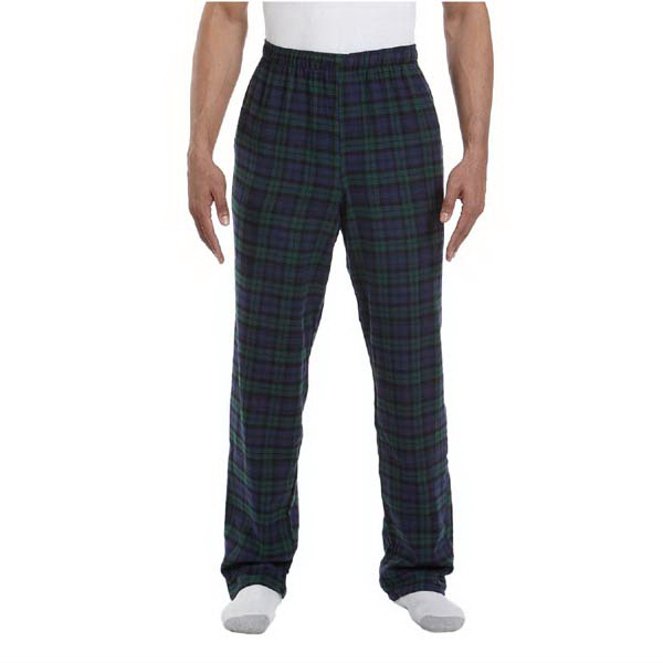 Personalized Unisex drawstring plaid flannel pant