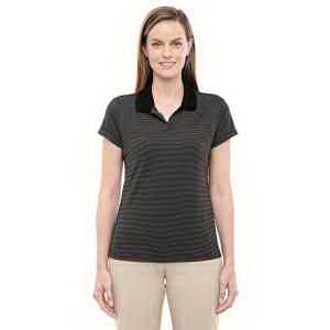 Customized Ladies' ClimaLite (R) Classic Stripe Short-Sleeve Polo