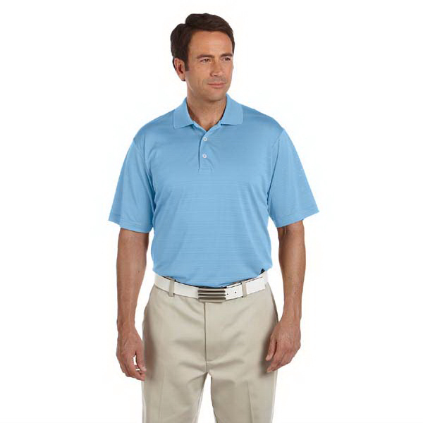 Imprinted Adidas Golf Men's ClimaLite (R) Textured Short-Sleeve Polo