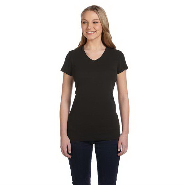 Personalized Alternative Ladies's Baby Rib V-Neck