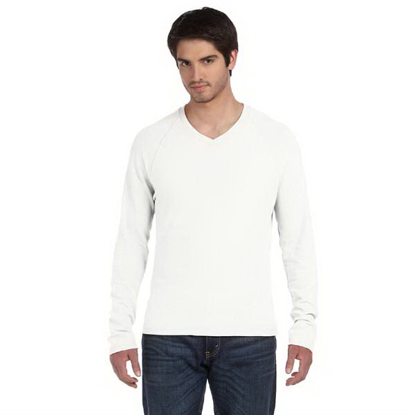 Printed Alternative Men's Long Sleeve Raglan V-Neck