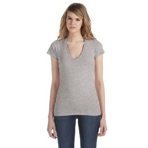 Imprinted Ladies' 3.5 oz. Short-Sleeve V-Neck
