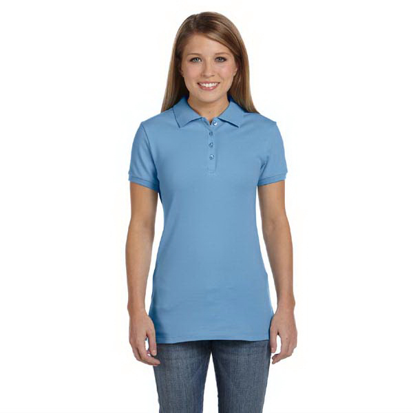 Imprinted Bella & Canvas Ladies' Cotton Spandex Mini Pique Polo