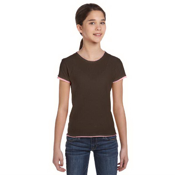 Personalized Bella & Canvas Girl's Jersey Short Sleeve 2-in-1 T-Shirt