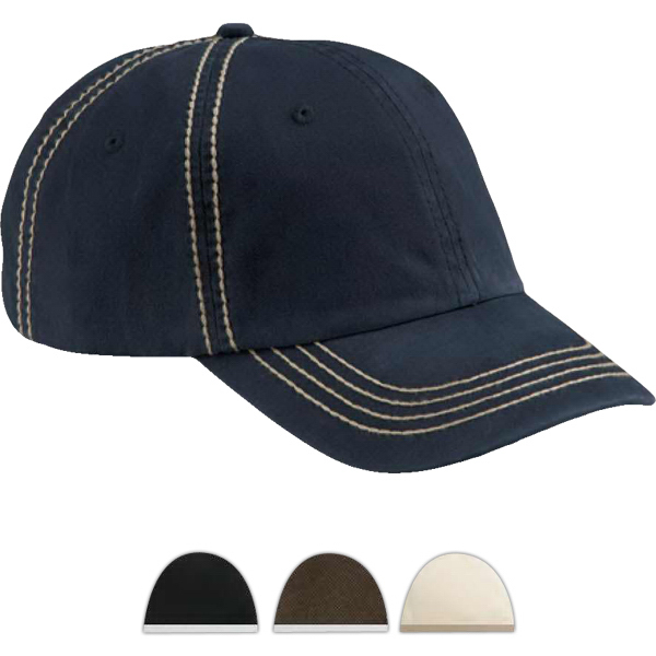Imprinted Big Accessories Contrast Thick Stitch Unstructured Cap