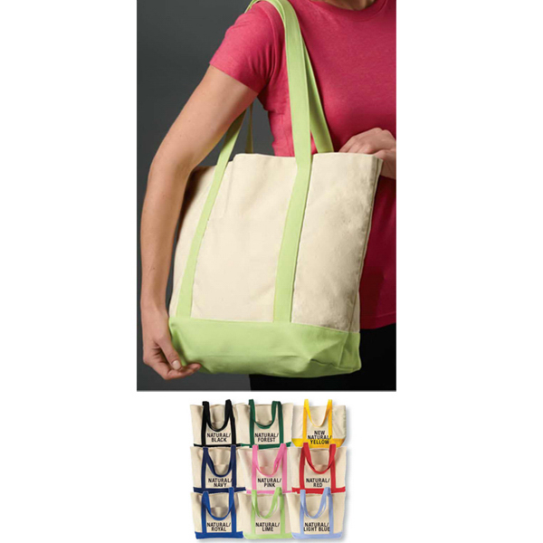 Imprinted Canvas Boat Tote