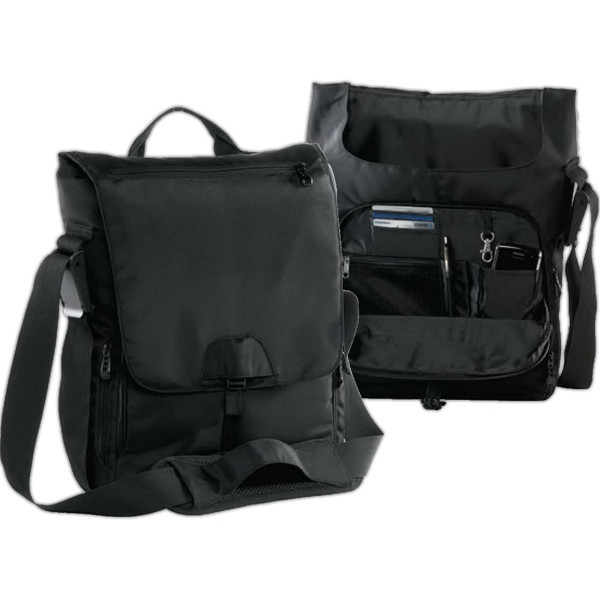 Printed BAGedge Vertical Messenger Tech Bag