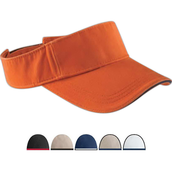 Imprinted Washed Twill Sandwich Visor