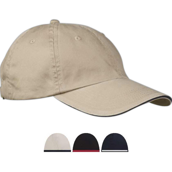 Imprinted Washed Twill Sandwich Cap