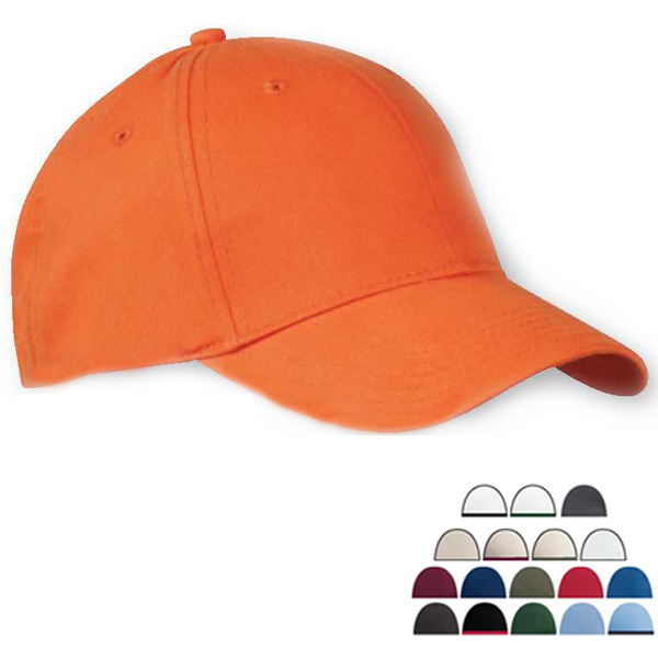 Personalized Six Panel Brushed Twill Structured Cap