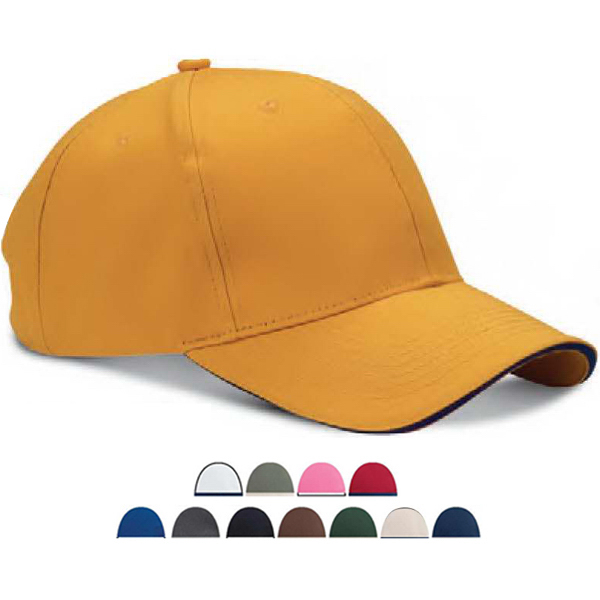 Promotional Six Panel Twill Sandwich Baseball Cap