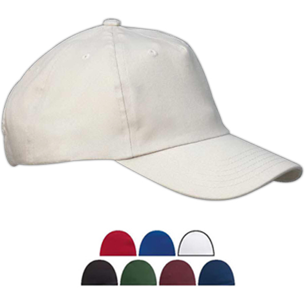 Personalized Five Panel Brushed Twill Unstructured Cap