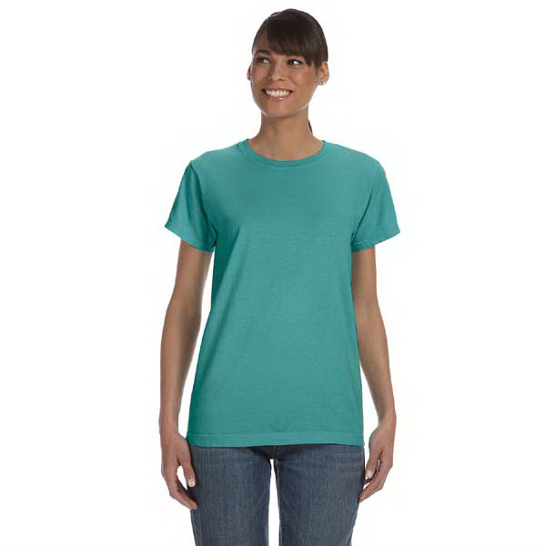 Imprinted Comfort Colors Ladies' 5.4 oz. Ringspun Garment Dyed T-Shirt