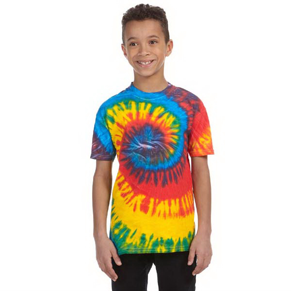 Promotional Youth 5.4 oz., 100% Cotton tie-dyed t-shirt