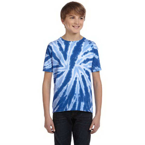 Printed 5.4 oz., 100% Cotton tie-dyed youth t-shirt