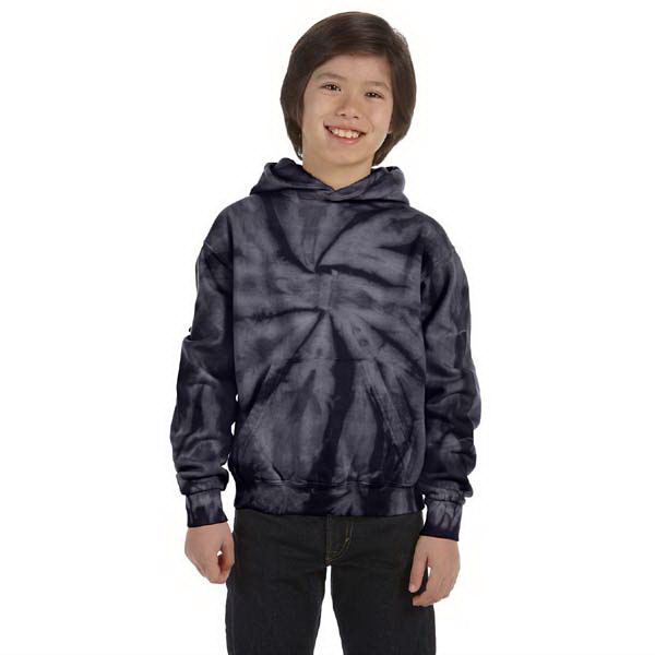 Custom Youth 8.5 oz. tie-dyed pullover hood