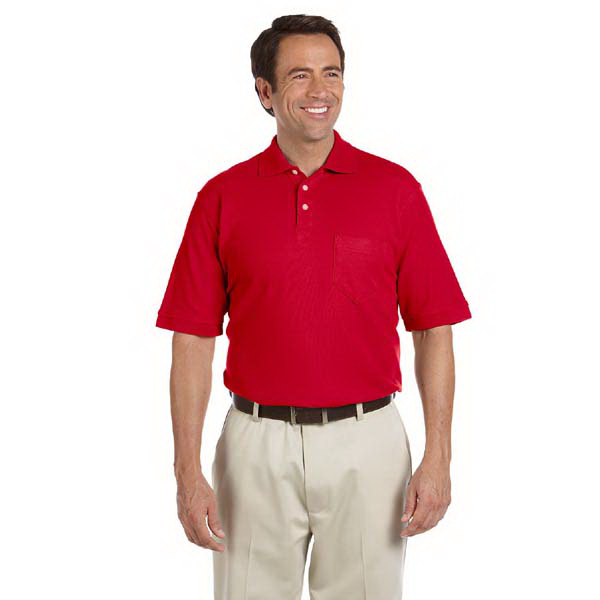 Custom Men's Performance Plus pique polo with pocket