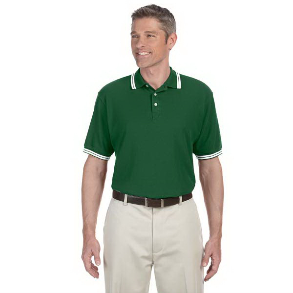 Personalized Men's tipped Performance Plus pique polo