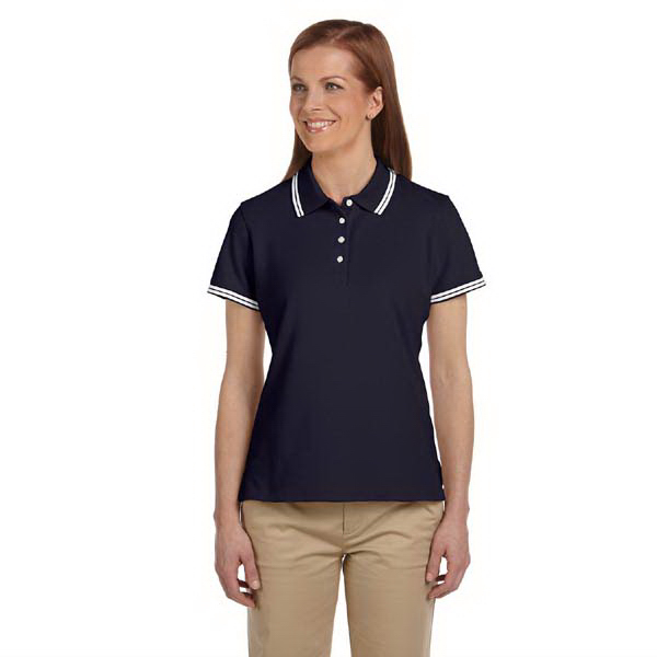 Promotional Ladies' tipped Performance Plus pique polo