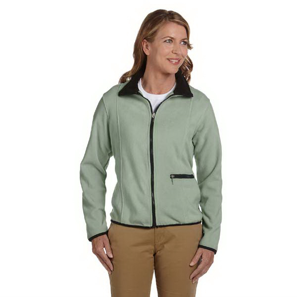 Printed Ladies' Microfleece Full Zip Jacket
