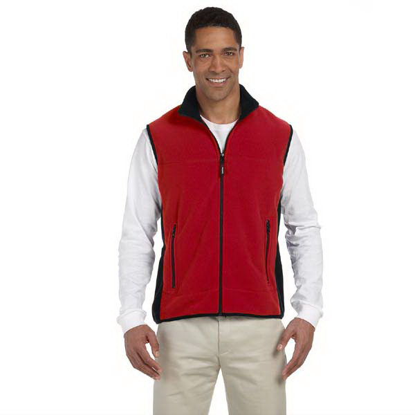 Custom Polartec(R) Colorblock Full Zip Vest