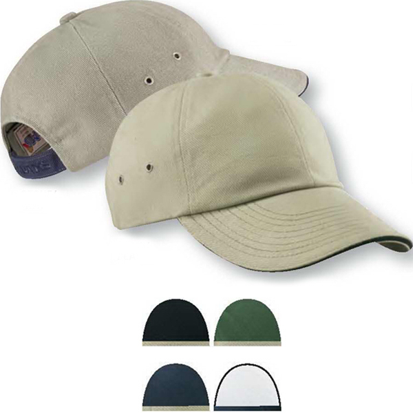 Imprinted Low Profile Ultra Heavyweight Brushed Twill Sandwich Cap